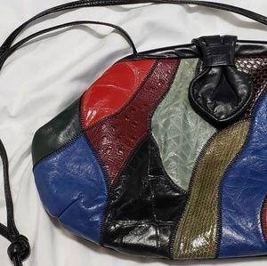VTG 80s REEM Genuine Leather Patchwork Crossbody